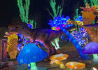 Special Keel Made Fabric Chinese Lanterns Seaweed Dinosaur Combination To Show Festival