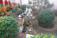 Outdoor Natureal Life Size Dinosaur Statue , Dinosaur Lawn Sculpture For Square Park