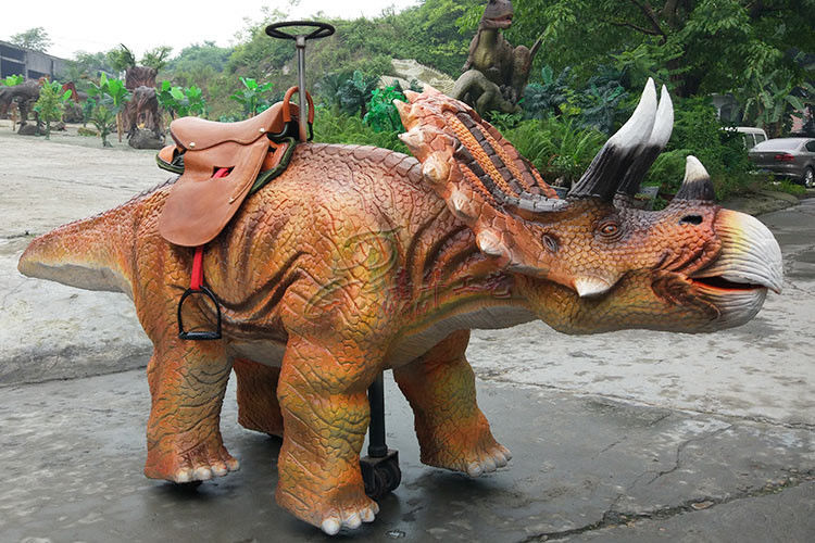 Amusement Park Animatronic Walking Dinosaur Rides For Kids And Adults